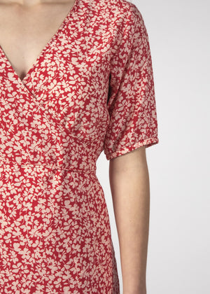Thing Thing - Blossom Dress (Red Ditsy)