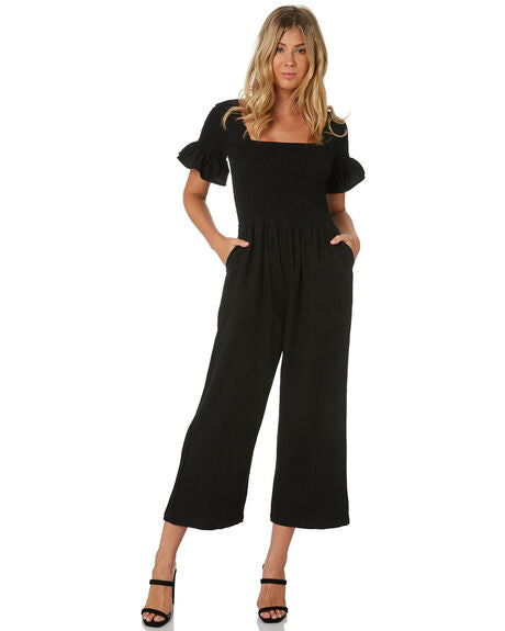 Rue Stiic - Bebe Ruched Jumpsuit (Black)