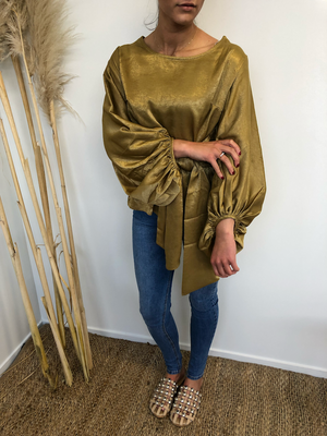 Luxe Golden Victorian Blouse