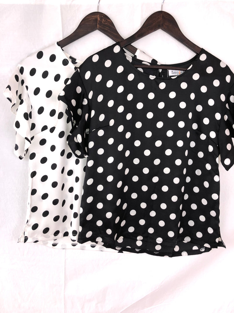Polka Luxe Top