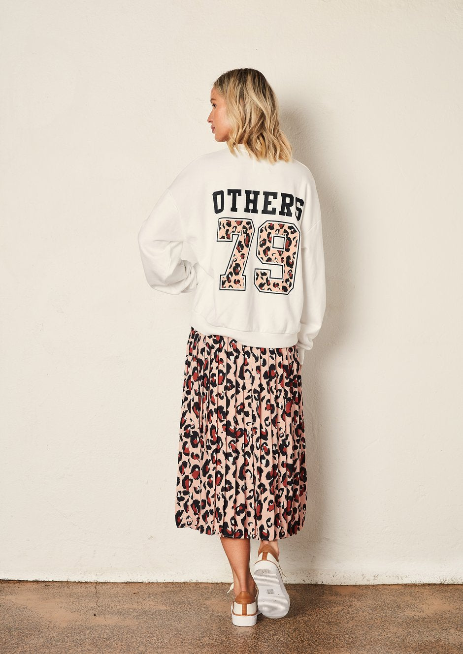 The Others - White Varsity Sweater