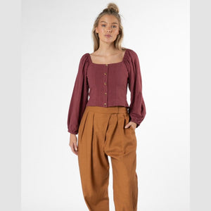 Sass- Rainey Top (Dusty Plum)