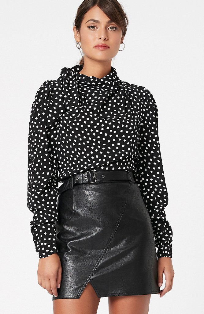 Minkpink - Elinor Blouse (Black/White)