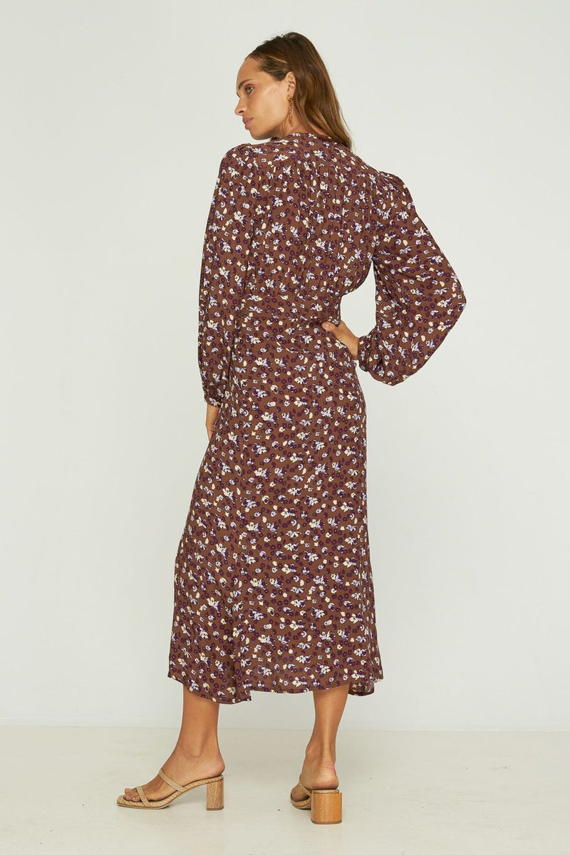 Rue Stiic - Julieta Dress - Floral Brandy