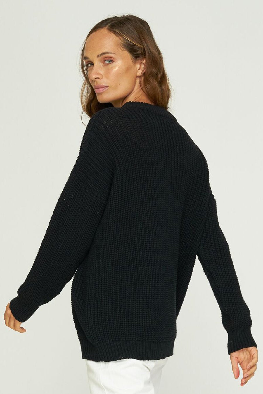 Rue Stiic-Beverly Boyfriend Knit-Black