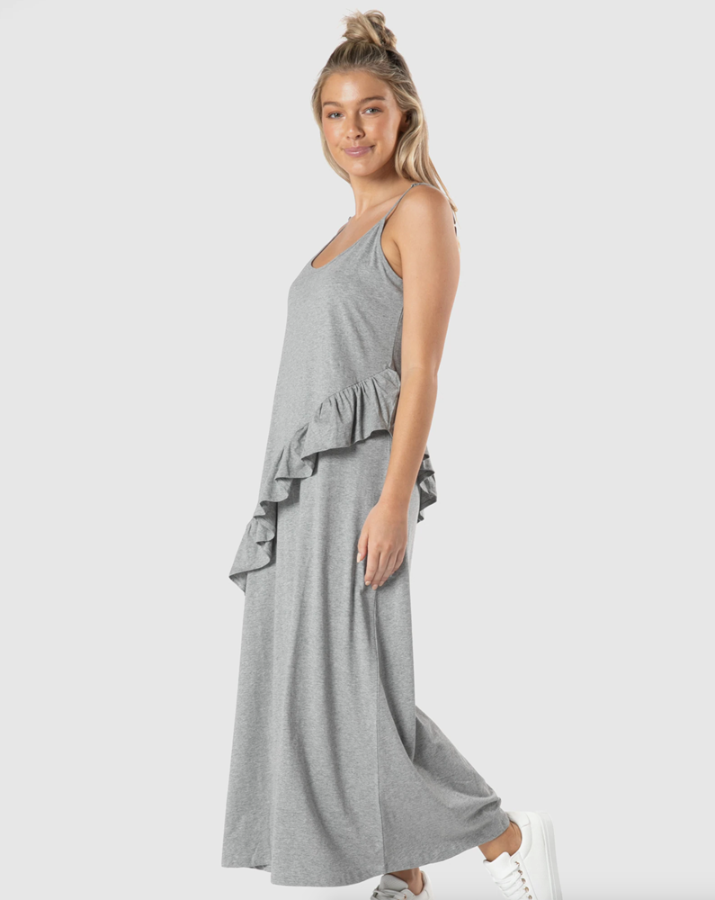 Sass- Maisey Ruffle Dress (Grey Marle)