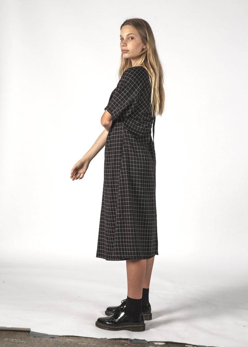 Thing Thing Flurry Dress - Black Check
