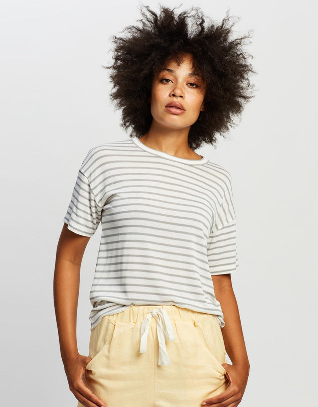 Staple the Label - Dove Stripe Tee