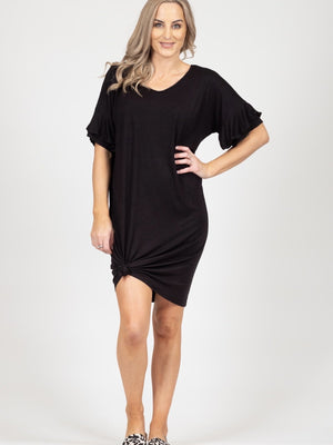 White Chalk - Camellia Dress (Black)