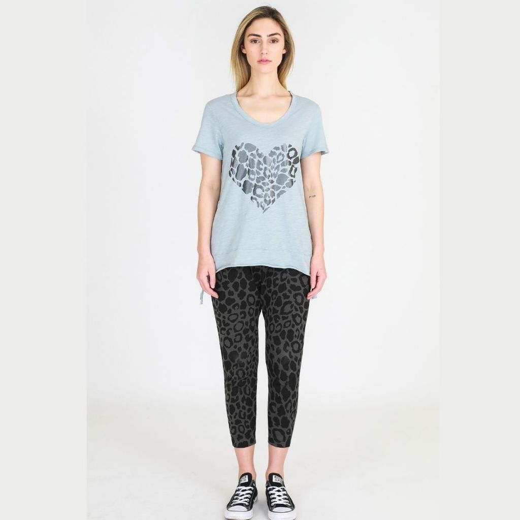 3rd Story - Leopard Jogger (Charcoal)