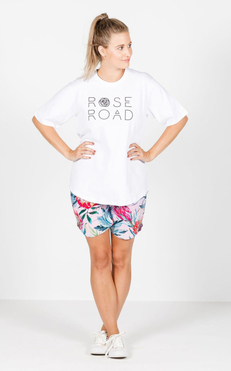 Rose Road - Tee (White w/ Logo)