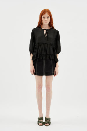 MINKPINK - Ellis Smock Top / Black