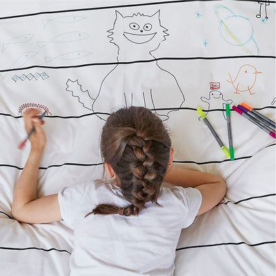Doodle by Stitch Draw-On Wash-Off Duvet Covers