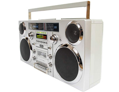 GPO Brooklyn Retro Bluetooth Boombox comes with modern features