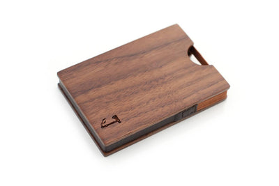 Walnut Card Wallet by Slim Timber