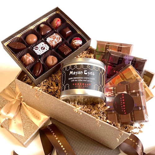 Gift Basket Grande No. 2 ~ Bonbons, Bars, Drinking Chocolate