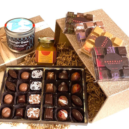 Gift Basket Luxe No. 2 ~ Bonbons, Bars, Confections