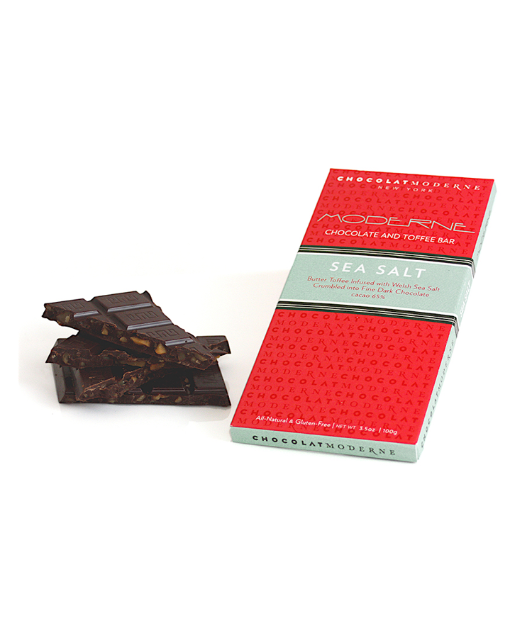 Moderne Chocolate and Toffee Bar - Sea Salt