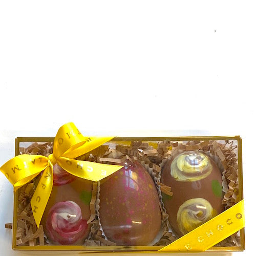 Milk Chocolate Eggs Three-Piece Set