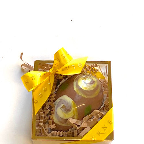 Milk Chocolate Yellow Swirl Milk Ganache Egg