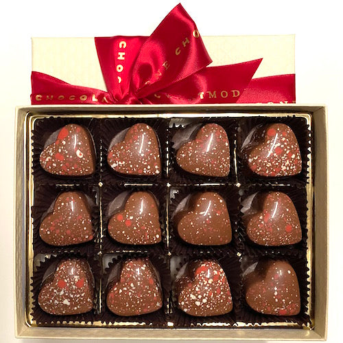 Wild Strawberry Balsamic Cordials Milk Chocolate 12-Piece Box