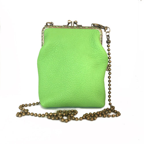 Apple Green Deer Leather Double 12cm Long