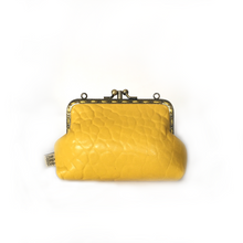 Load image into Gallery viewer, Yellow Merino Double Purse, 12cm