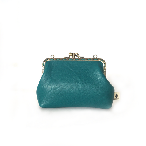 Jade Merino Double Purse, 12cm
