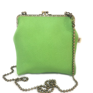 Apple Green Deer Leather Double 18cm Long