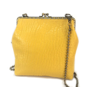 Yellow Merino Leather Double 18cm Long
