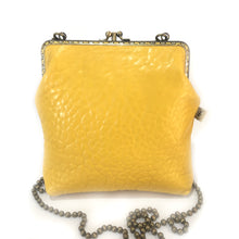 Load image into Gallery viewer, Yellow Merino Leather Double 18cm Long