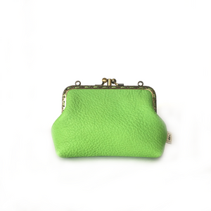 Apple Green Deer Double Purse, 12cm