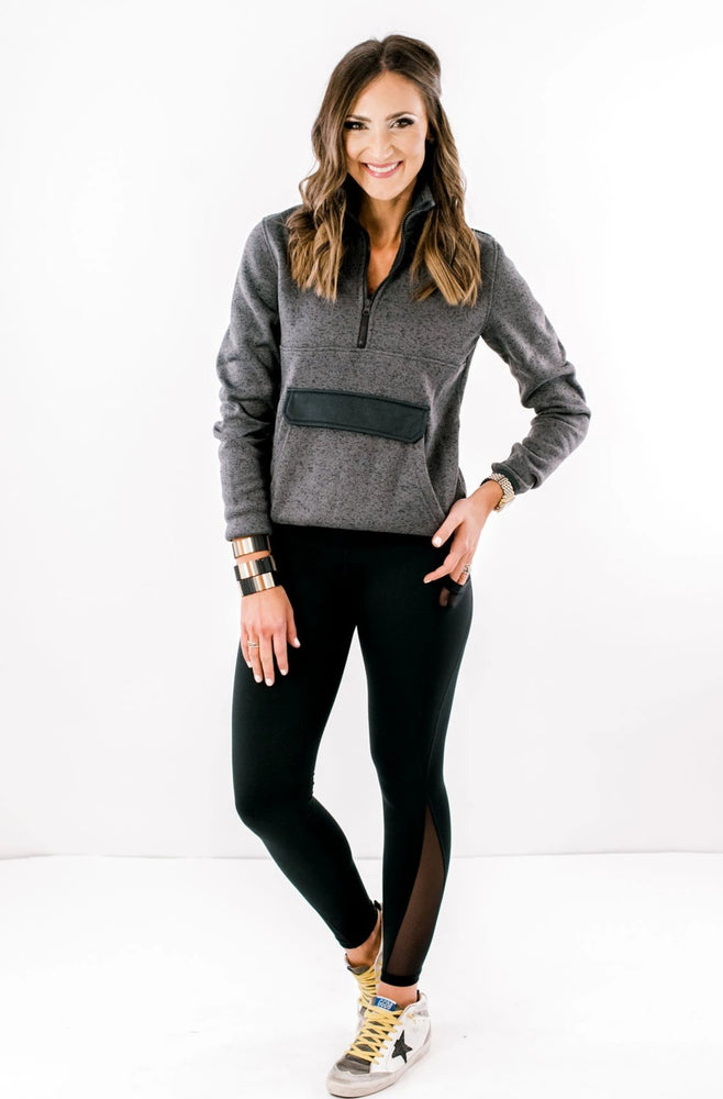 Shop-style-your-senses-by-Mallory-Fitzsimmons-half-zip-dark-grey-sweatshirt-pullover-long-sleeve-activewear-athleisure-workout-mom-style-momiform-tops-affordable-womens-clothing-fashion