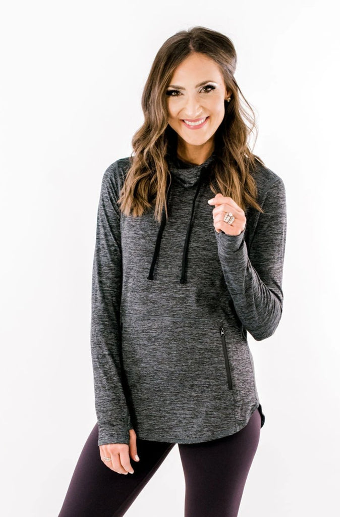 Heathered Charcoal Activewear Hoodie