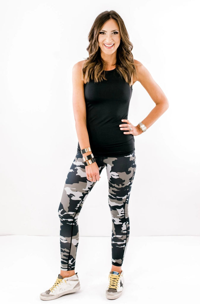 Camo Print Activewear Leggings