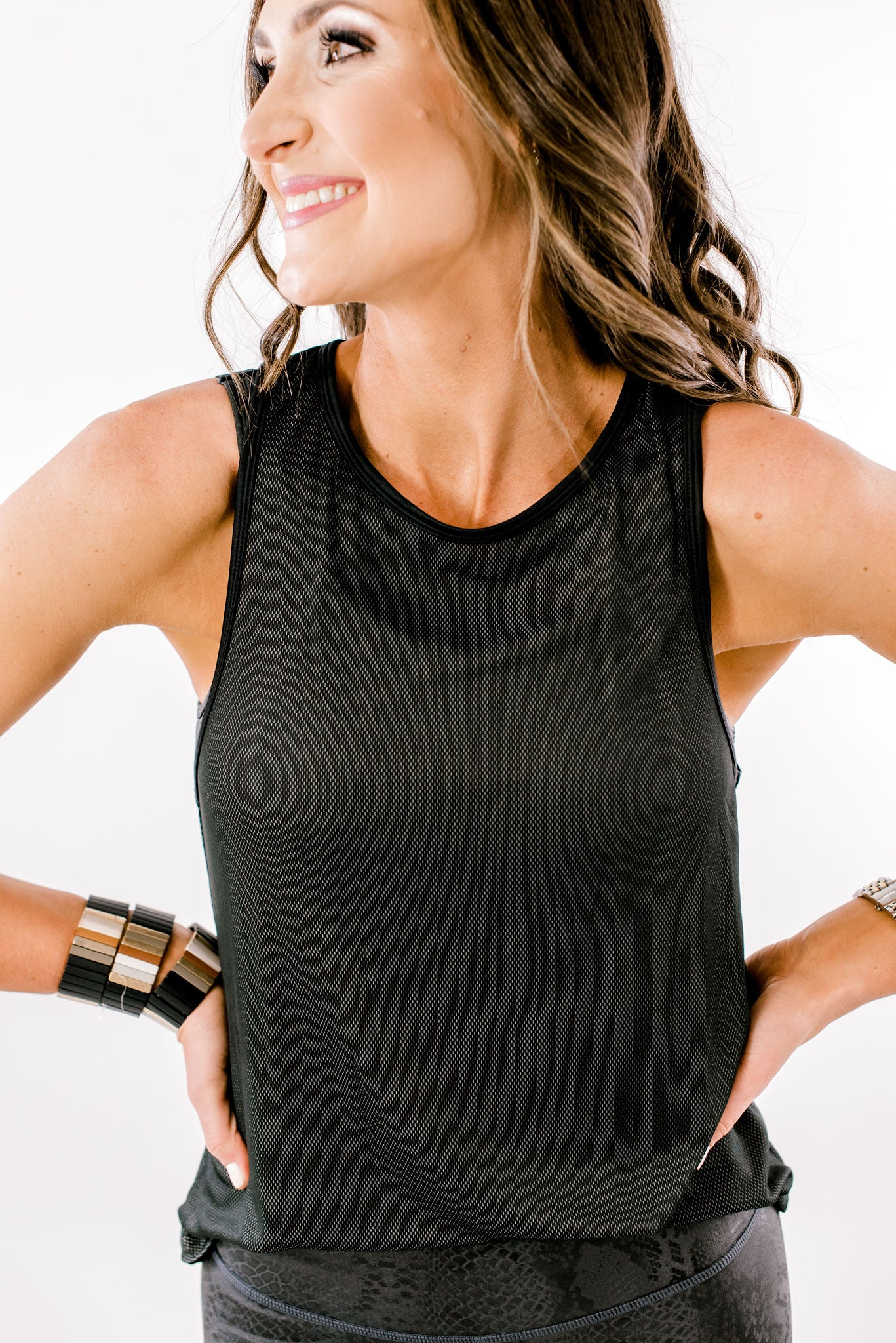 Black Tank w/ Cutout Back