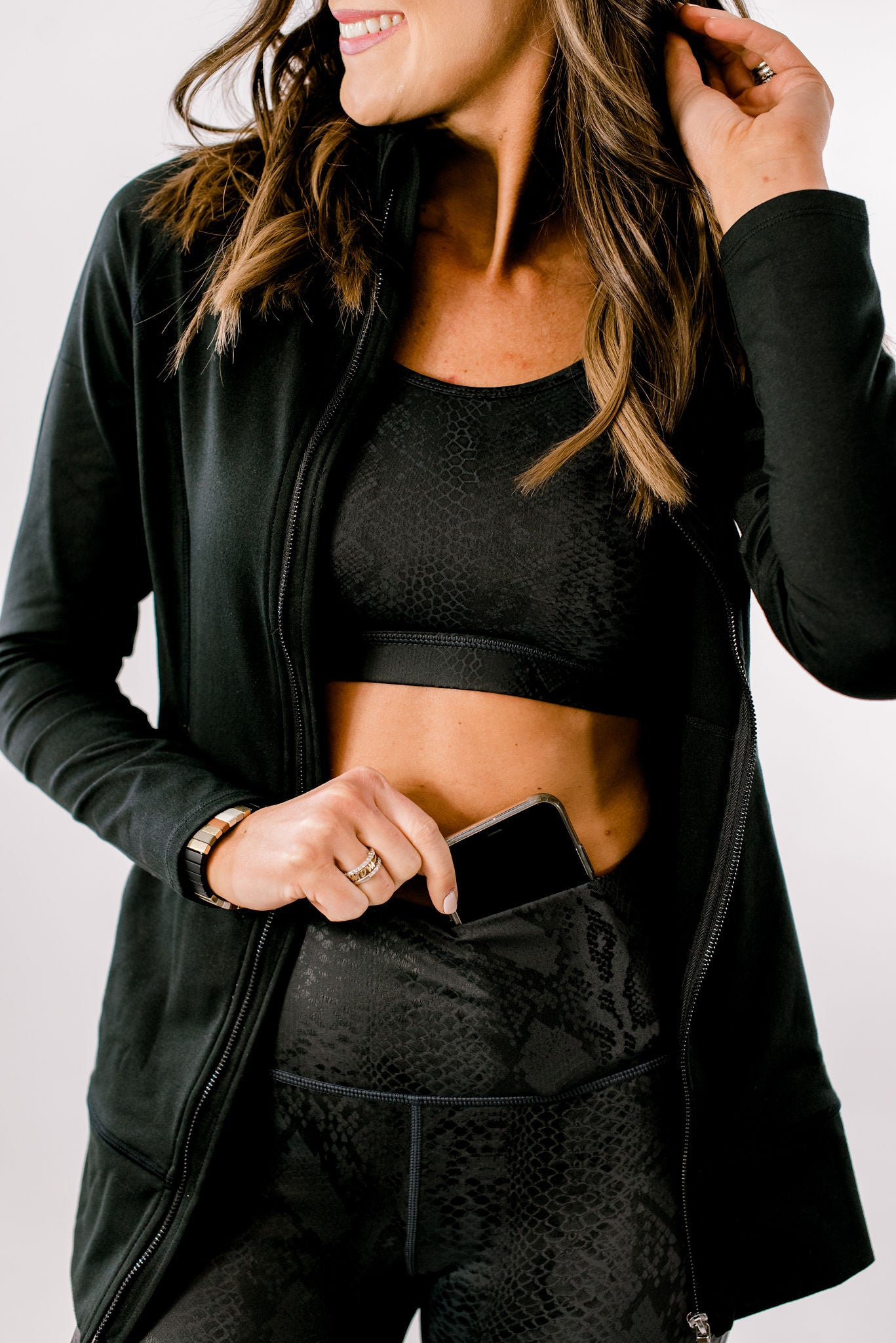 Black Scale Activewear Leggings