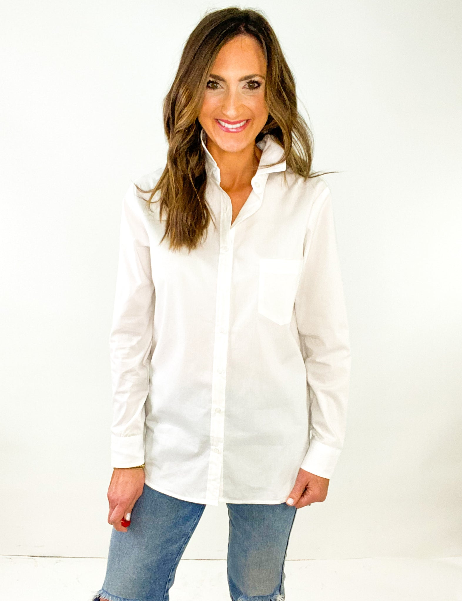 Crisp White Button Down Shirt *FINAL SALE*