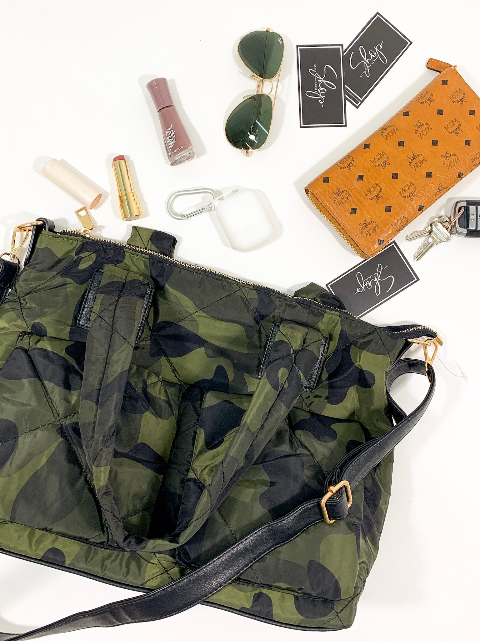 Camo Quilted Tote Bag