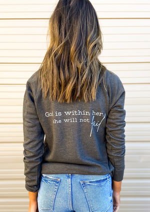Load image into Gallery viewer, Psalm 46:5 Scripture Sweatshirt Charcoal