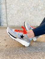 Silver Glitter Star Runner Sneakers