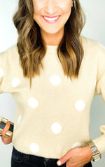 Cream and Ivory Polka Dot Sweater