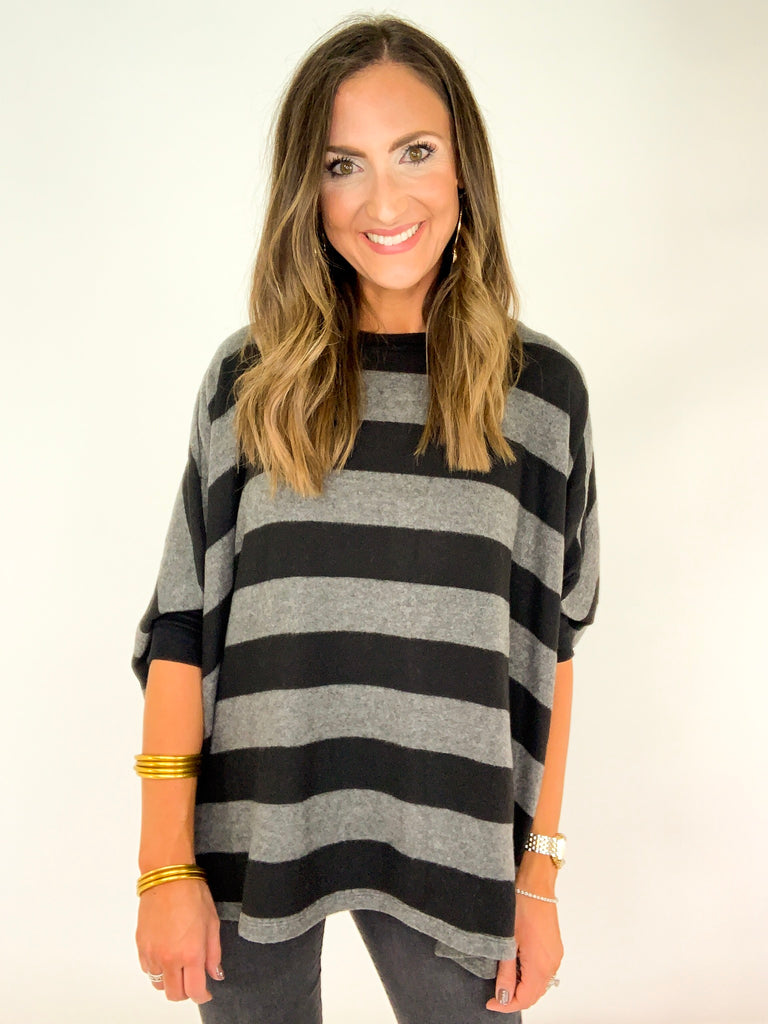 Black and Grey Boxy Tunic