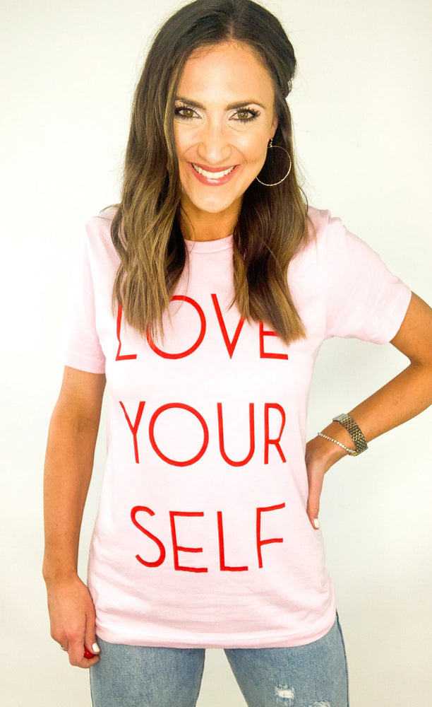 Pink Love Yourself Graphic Tee