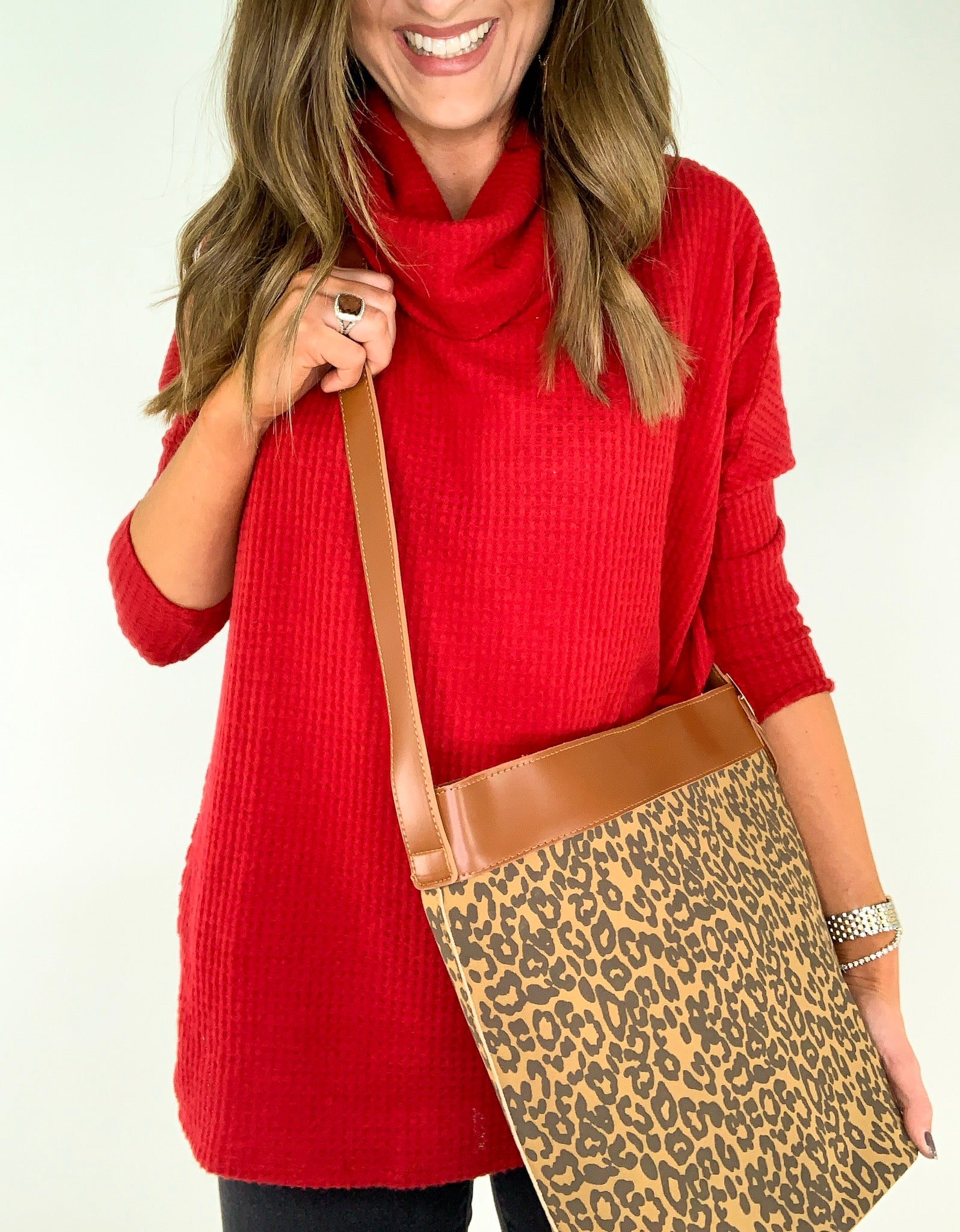 Leopard Crossbody Bag w/ Removable Pouch