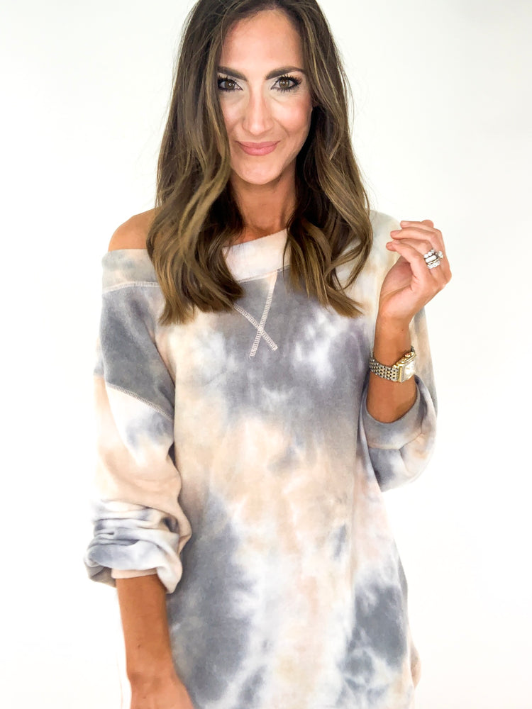 Load image into Gallery viewer, Super Soft Off the Shoulder Tie Dye Top