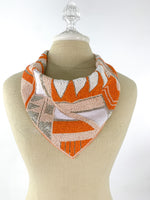 Orange Beaded Bandana Necklace