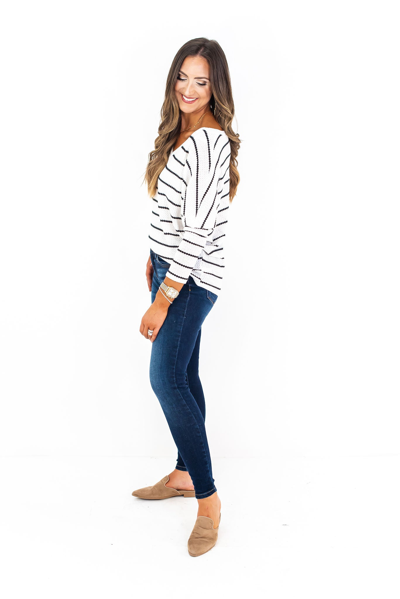 Slouchy Stripe Knit Top