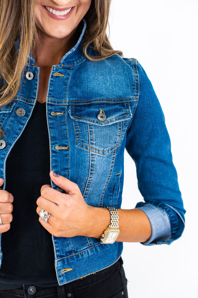 denim jacket, dark wash denim jacket, affordable denim jacket, style your senses