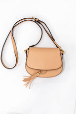 Tan Tassel Crossbody Bag